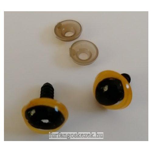 Biztonsági cicaszem 1,4x1,4 cm sárga