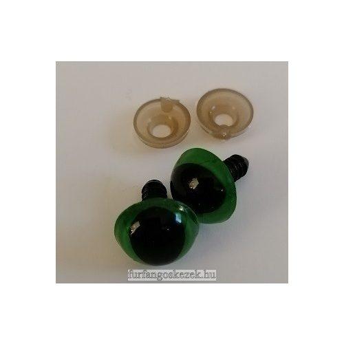 Biztonsági cicaszem 1,4x1,4 cm zöld