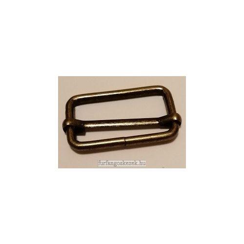 Csúszka táskához 3 cm, bronz