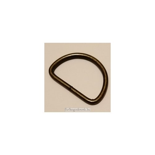 D karika táskához 3 cm, bronz