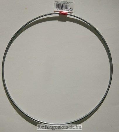Horgolható fémkarika - ezüst - 20 cm átmérő