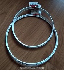 Horgolható fémkarika - fehér - 22 cm átmérő