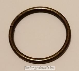 Fém karika táskához 3 cm, bronz