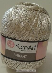 YarnArt Bright horgoló fonal - halvány bézs arany fémszállal