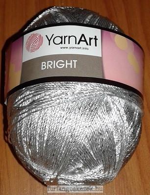 YarnArt Bright horgoló fonal - ezüst