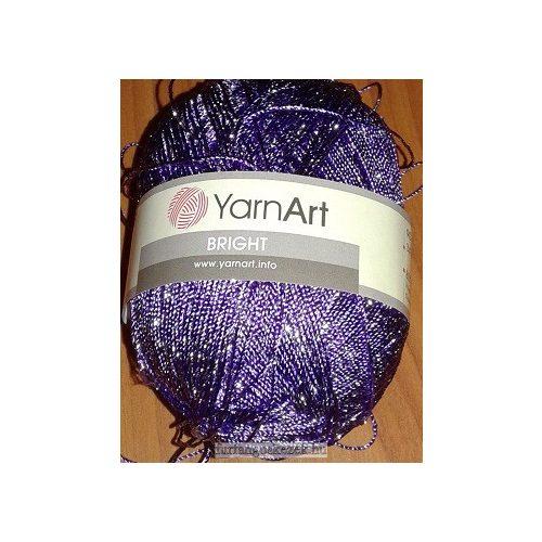 YarnArt Bright horgoló fonal - orgona lila ezüst fémszállal