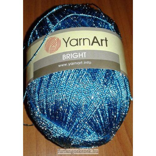 YarnArt Bright horgoló fonal - türkiz ezüst fémszállal