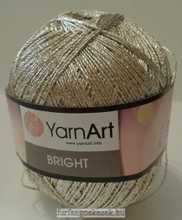 YarnArt Bright horgoló fonal - világos arany