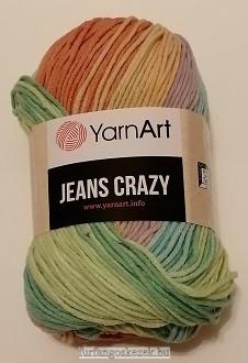 YarnArt Jeans Crasy -  zöld - narancs - mályva színátmenetes