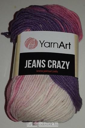 YarnArt Jeans Crasy -  vaj - rózsaszín - lila  színátmenetes