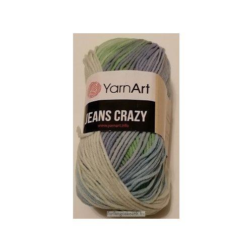YarnArt Jeans Crasy -  vaj - zöld - kék színátmenetes