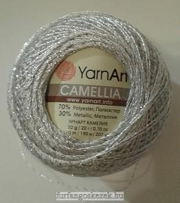 YarnArt Camellia horgoló cérna - ezüst