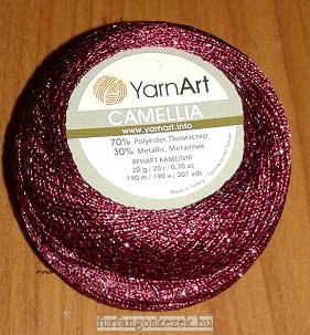 YarnArt Camellia horgoló cérna - burgundi